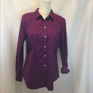 Old Navy Purple Floral Shirt